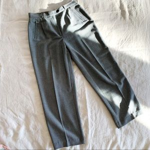 Vintage tweed grey trousers